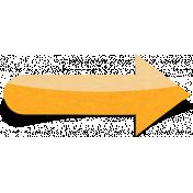 Sand And Beach- Sticker Arrow Peel Orange