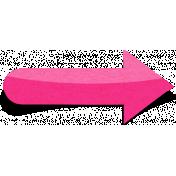 Sand And Beach- Sticker Arrow Peel Pink