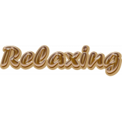 Sand And Beach- Relaxing Word-Art