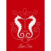 Sand & Beach- Love Sea- Journal Card