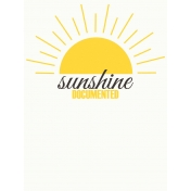 Sand & Beach- Sunshine Documented- Journal Card