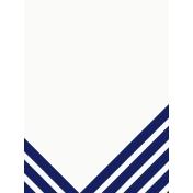 Sand & Beach-Nautical Stripes- Journal Card