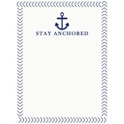 Sand & Beach- Stay Anchored- Journal Card