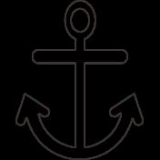 Sand & Beach- Anchor- Nautical Stamp