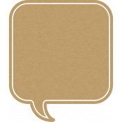 Sand And Beach- Square Speech Bubble