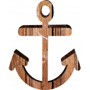 Sand And Beach- Wooden Anchor