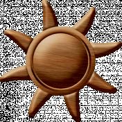 Sand And Beach- Wood Sun Ornament
