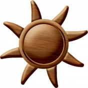 Sand And Beach- Wood Sun Ornament