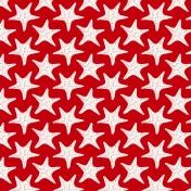 Sand & Beach- Starfish- Red Paper