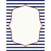 Sand & Beach- Nautical Stripes- Journal Card