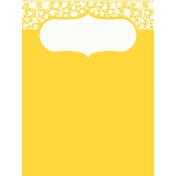 Sand & Beach- Lace- Journal Card