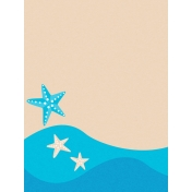 Sand & Beach- Starfish- Journal Card