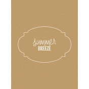 Sand & Beach- Summer Breeze- Journal Card