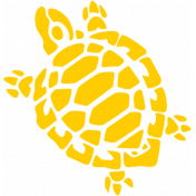 Sand & Beach- Yellow Turtle- Nautical Stamp