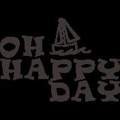 Sand & Beach- Oh Happy Day- Nautical Stamp