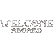 Sand & Beach- Welcome Aboard- Nautical Stamp