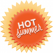 Heat Wave Elements- Hot Summer Label