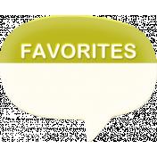 "Heat Wave Elements- ""Favorites"" Speech Bubble"