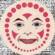 At The Fair- Clown Round Label