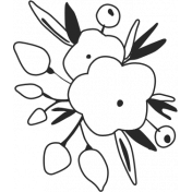 At The Fair- Flower Stamp