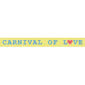 Blog Train | September 2014- Carnival Of Love Word Strip