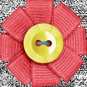 Blog Train | September 2014- Ribbon Flower Button