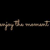 Delightful- Enjoy the Moment- Word Art