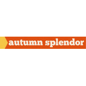 Cast A Spell Elements- Autumn Splendor Word Snippet