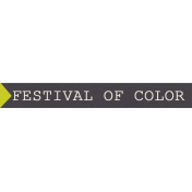 Delightful- Festival Of Color- Label