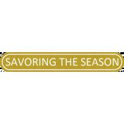 Delightful- Savoring The Season- Label