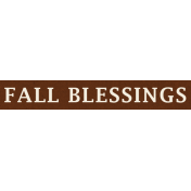 Cast A Spell Elements- Fall Blessings