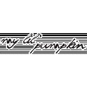 Cast A Spell Elements - My Lil' Pumpkin Sticker