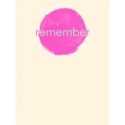 Buried Treasures- Journaling Card 08