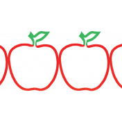 It's Elementary, My Dear- Apple Border