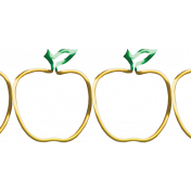 It's Elementary, My Dear- Wire Apple Border