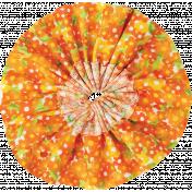 It's Elementary, My Dear- Orange Fabric Flower 01