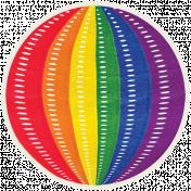 It's Elementary, My Dear- Rainbow Ribbon Ball Sticker