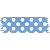 It's Elementary, My Dear- Blue Polka Dots Washi Tape