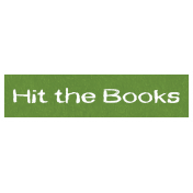Hit the Books Word Art