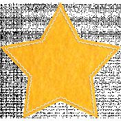It's Elementary, My Dear- Yellow Felt Star
