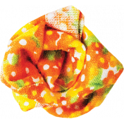 It's Elementary, My Dear- Orange Fabric Flower 02
