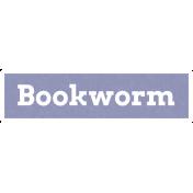 Bookworm Word Art