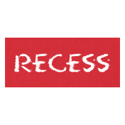 Recess Word Art