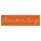 Handwriting Word Art