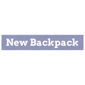 New Backpack Word Art