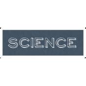 Science Word Art