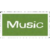 Music Word Art
