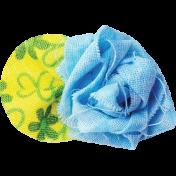 It's Elementary, My Dear- Blue Fabric Flower 01