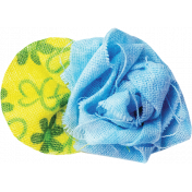 It's Elementary, My Dear- Blue Fabric Flower 01