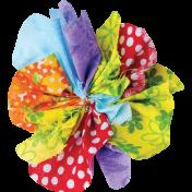 It's Elementary, My Dear- Multi-Color Fabric Flower 03